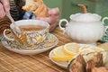 Free Senior Woman Drinks Tea Royalty Free Stock Photos - 5457008