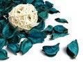 Free Woven Bamboo Ball On Potpourri Stock Photography - 5457922