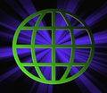 Free Blue Rays Through Terrestrial Sphere Globe Stock Photo - 5458110