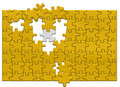 Free Gold Puzzle Royalty Free Stock Images - 5458529