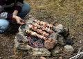 Free Kebab Preparing Stock Photos - 5458793