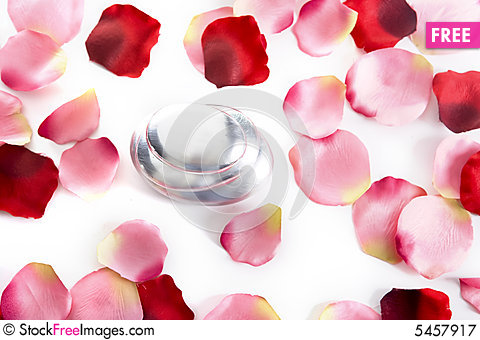 Pile Of Round Pebbles With Rose Petals - Free Stock Photos ...