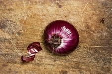 Spanish Red Onion Stock Images