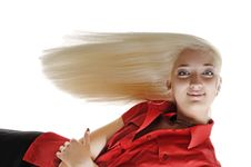 Free Horizontal Portrait Of Woman With Long Hair Royalty Free Stock Photo - 5450225