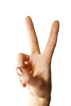 Free Victory Gesture Royalty Free Stock Photo - 5450255