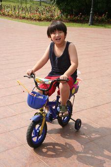 Free Boy Cycling Stock Photo - 5450450