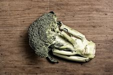 Broccoli On Wooden Royalty Free Stock Photo