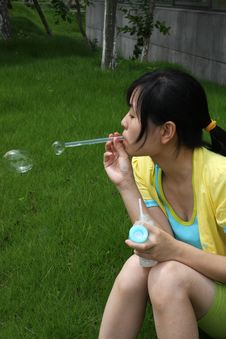 Free Bubble And Gril Stock Photography - 5450522
