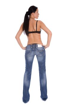 Free Attractive Girl Stand Back To Camera Stock Photography - 5450622