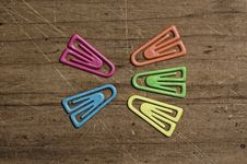 Free Color Paper Clips Stock Photo - 5450740