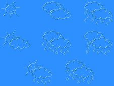 Free Weather Forecast Logos Royalty Free Stock Images - 5450749