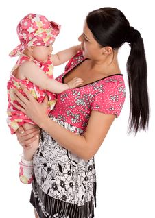 A Mother Hold His Infant Child Royalty Free Stock Photos