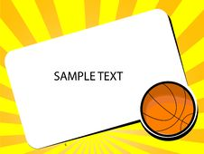 Free Basketball With Sample Text Stock Images - 5450974