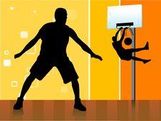 Free Basket Ball Players Royalty Free Stock Photo - 5450975