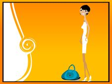 Free Lady With Purse Royalty Free Stock Photo - 5451035