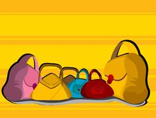 Free Colorful Purses Stock Image - 5451051