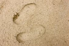 Free Footprints Royalty Free Stock Photo - 5451855