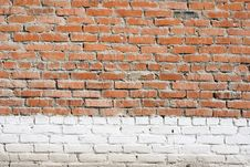 Texture Of Old Brick Building Stock Photography