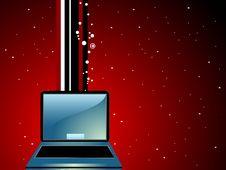 Free Laptop On Stripes Stock Photography - 5452302