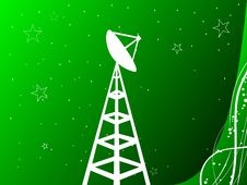 Free Antenna With Tower Royalty Free Stock Photography - 5452397
