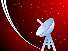 Free Dish Antenna On Tower Stock Photography - 5452402
