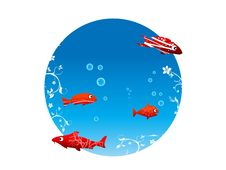 Free Little Fish With Bubbles Stock Photos - 5452473