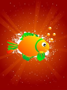 Free Fish With Bubbles Royalty Free Stock Images - 5452479