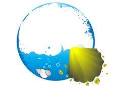 Free Sea Shell On Circular Design Stock Photo - 5452480