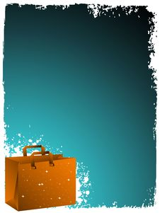 Free Bags On Grunge Royalty Free Stock Photo - 5452645