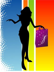 Free Lady With Bag In Hand Stock Photo - 5452650