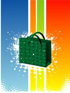 Free Shopping Bag On Grunge Stock Photography - 5452662