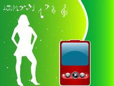 Free Female And Mp3 Player Stock Photos - 5452703