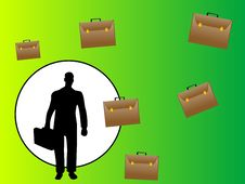 Free Businessman And Bags Stock Photo - 5452760