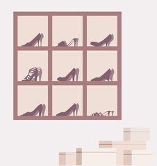Free Shoe Shop Illustration Royalty Free Stock Photo - 5452975