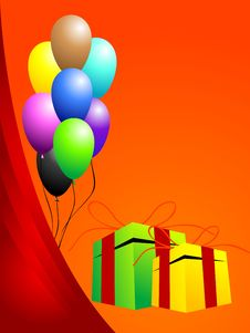 Free Gifts And Balloons Stock Images - 5453074