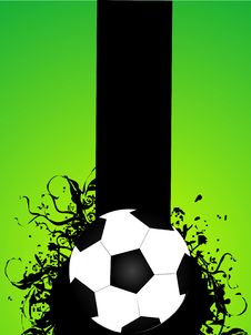 Football On Florals Royalty Free Stock Photos