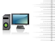 Free Cpu With Monitor Stock Image - 5453221