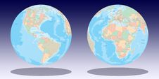 Free Earth Globe Illustration Royalty Free Stock Images - 5453429