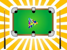 Free Snooker Table Royalty Free Stock Photos - 5453638