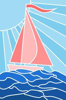 Free Sailing Yacht Royalty Free Stock Photo - 5453745