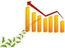 Rising Finance Graph Stock Image