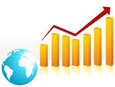 Free Globe And Bars Royalty Free Stock Image - 5453826