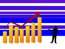 Free Executive And Bar Graph Royalty Free Stock Photography - 5453877