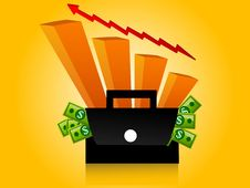 Free Moneybag And Graph Royalty Free Stock Photos - 5453948