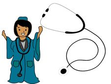 Free Lady Doctor With Stethoscope Stock Photos - 5453953