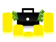 Free Money And Bag Royalty Free Stock Photo - 5453985