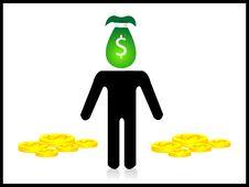 Free Money Man Stock Photography - 5453992