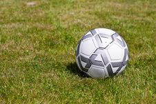 Free Soccer Ball On The Grass Royalty Free Stock Photos - 5454108