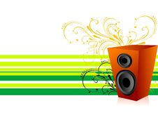 Free Soundbox On Florals Stock Photos - 5454153