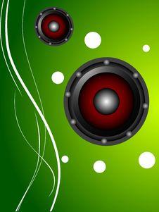 Free Circular Speakers Stock Image - 5454221